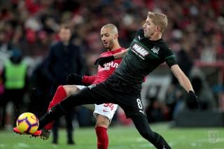 «Спартак» и «Краснодар» сыграли вничью в центральном матче тура РПЛ